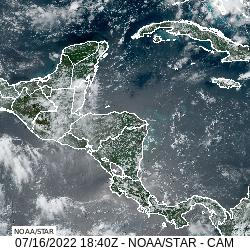 Central America GeoColor Satellite