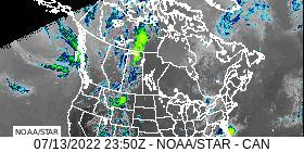 Canada Longwave IR Band 14 Satellite