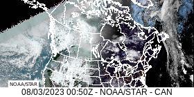 Canada GeoColor Satellite