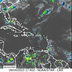 Aktuelles Infrarot Satellitenbild NOAA/NESDIS/STAR GOES-East | Bildquelle: https://t1p.de/4qmi © NHC | Bilder sind in der Regel urheberrechtlich geschützt