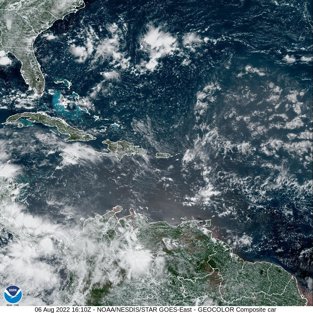 GOES-16 Caribbean GeoColor Satellite Image from STAR