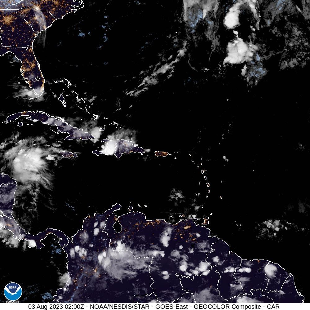 Florida and Caribbean Satellite