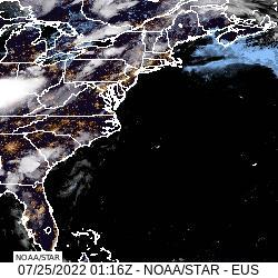 Latest Eastern United States and Western Atlantic Ocean Visible Animated Satellite Loop Thumbnail