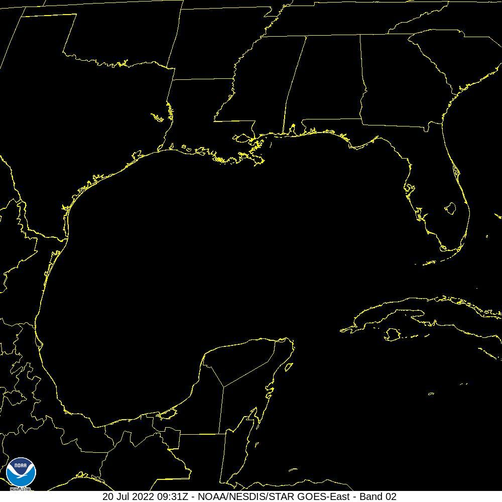 Visible satellite image of TS Gordon in the Gulf of Mexico