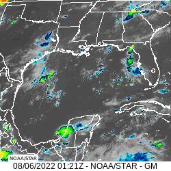 Gulf of Mexico infrared image