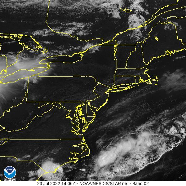 GOES-16 Northeast Visible Satellite Image from STAR