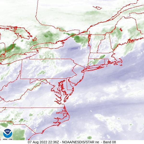 GOES-16 Northeast Water Vapor Satellite Image from STAR