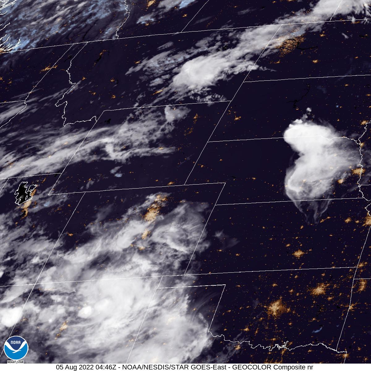 Latest GOES-16 Geocolor Image of Northern Rockies sector