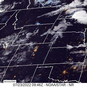 Montana, Wyoming, Colorado Oklahoma, Kansas & Nebraska Visible GeoColor Satellite