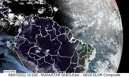 Northern South America GeoColor Satellite