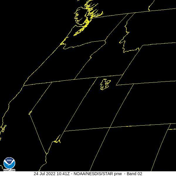 GOES-16 Pacific Northwest Visible Satellite Image from STAR
