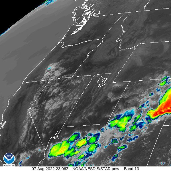 GOES-16 Pacific Northwest Infrared Satellite Image from STAR