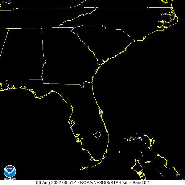 GOES-16 Southeast Visible Satellite Image from STAR