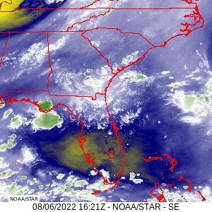 A recent water vapor image from GOES-16, zoomed in over Florida.  Click on the image for a larger view.
