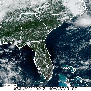A recent visible image from GOES-16, zoomed in over Florida.  Click on the image for a larger view.