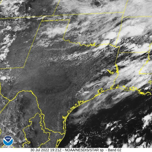 GOES-16 Southern Plains Visible Satellite Image from STAR