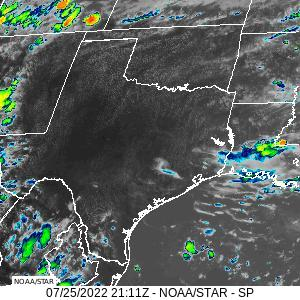Southern Plains infrared image