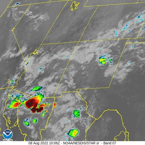 GOES-16 Southern Rockies Short Wave Satellite Image from STAR