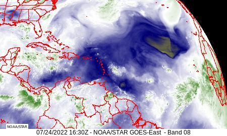 Atlantic Basin water vapor image