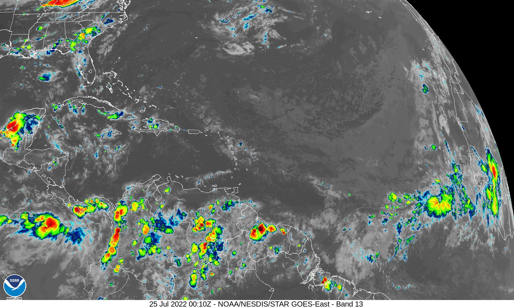East Gulf Infrared Sat Image
