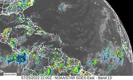 Atlantic Basin infrared image