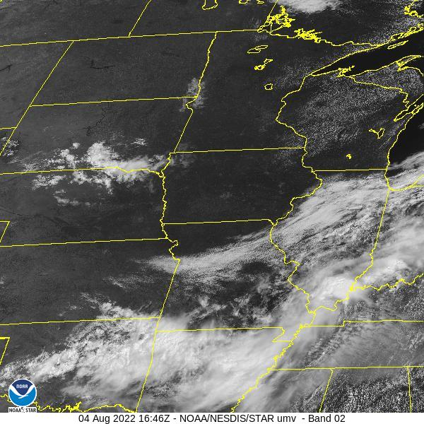 GOES-16 Upper Mississippi Valley Visible Satellite Image from STAR