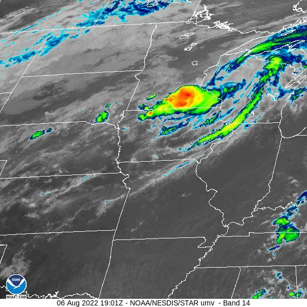 Central Plains IR Satellite Image