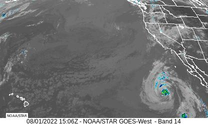 West Coast Infrared Satellite