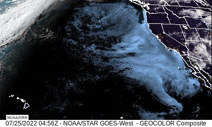 Latest North-East Pacific and Western North America Visible Animated Satellite Loop Thumbnail