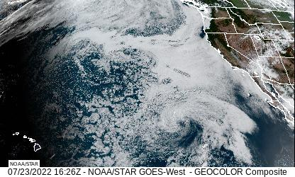 Western U.S. and East Pacifc GeoColor Satellite