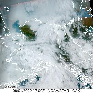 Central Alaska GeoColor Satellite