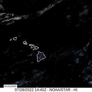 Hawaii Geocolor Satellite