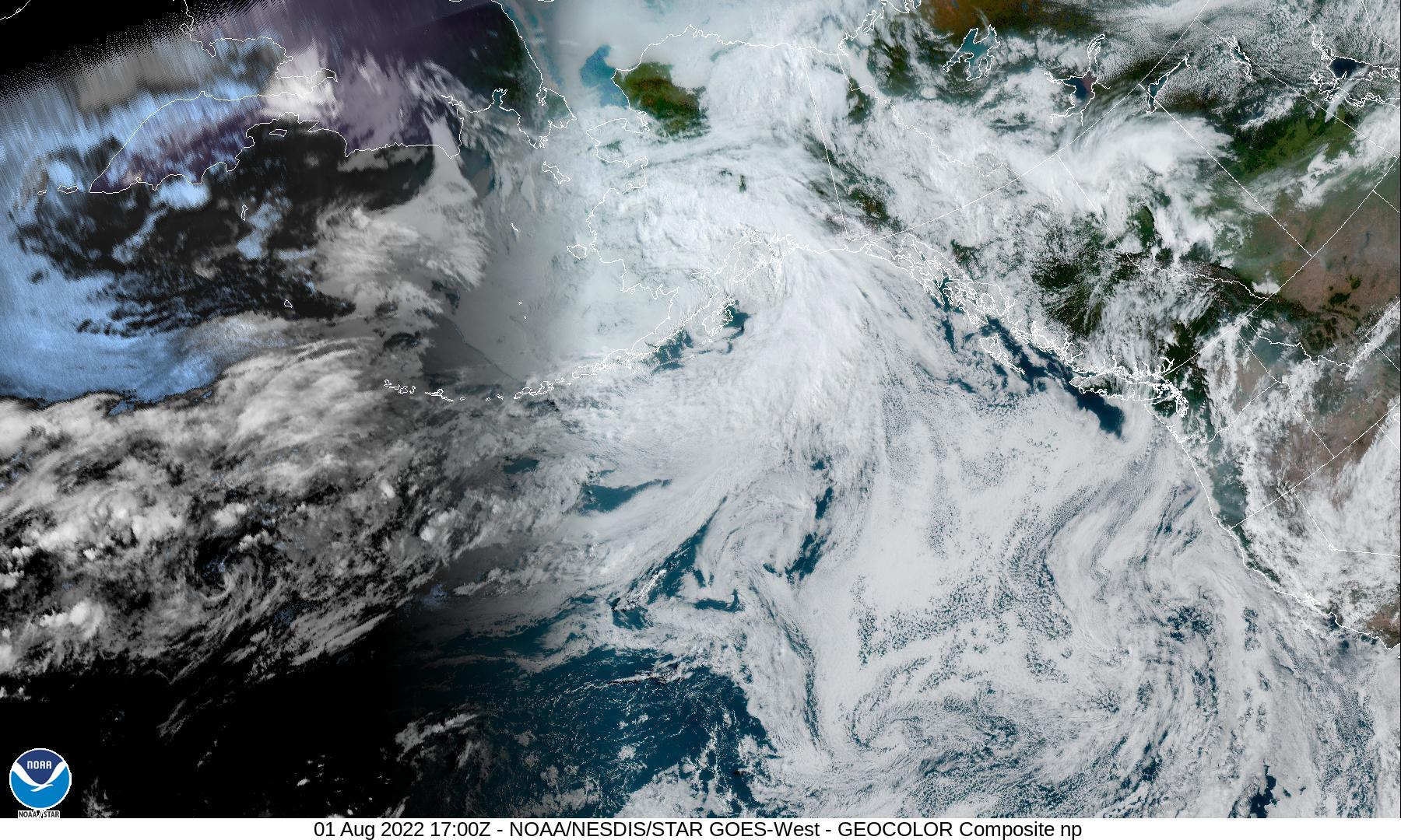Goes 17 North Pacific Satellite View