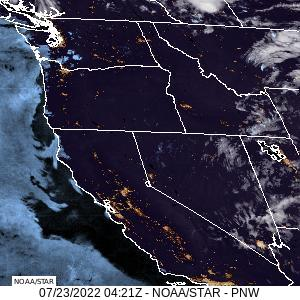 Pacific Northwest Visible GeoColor Satellite